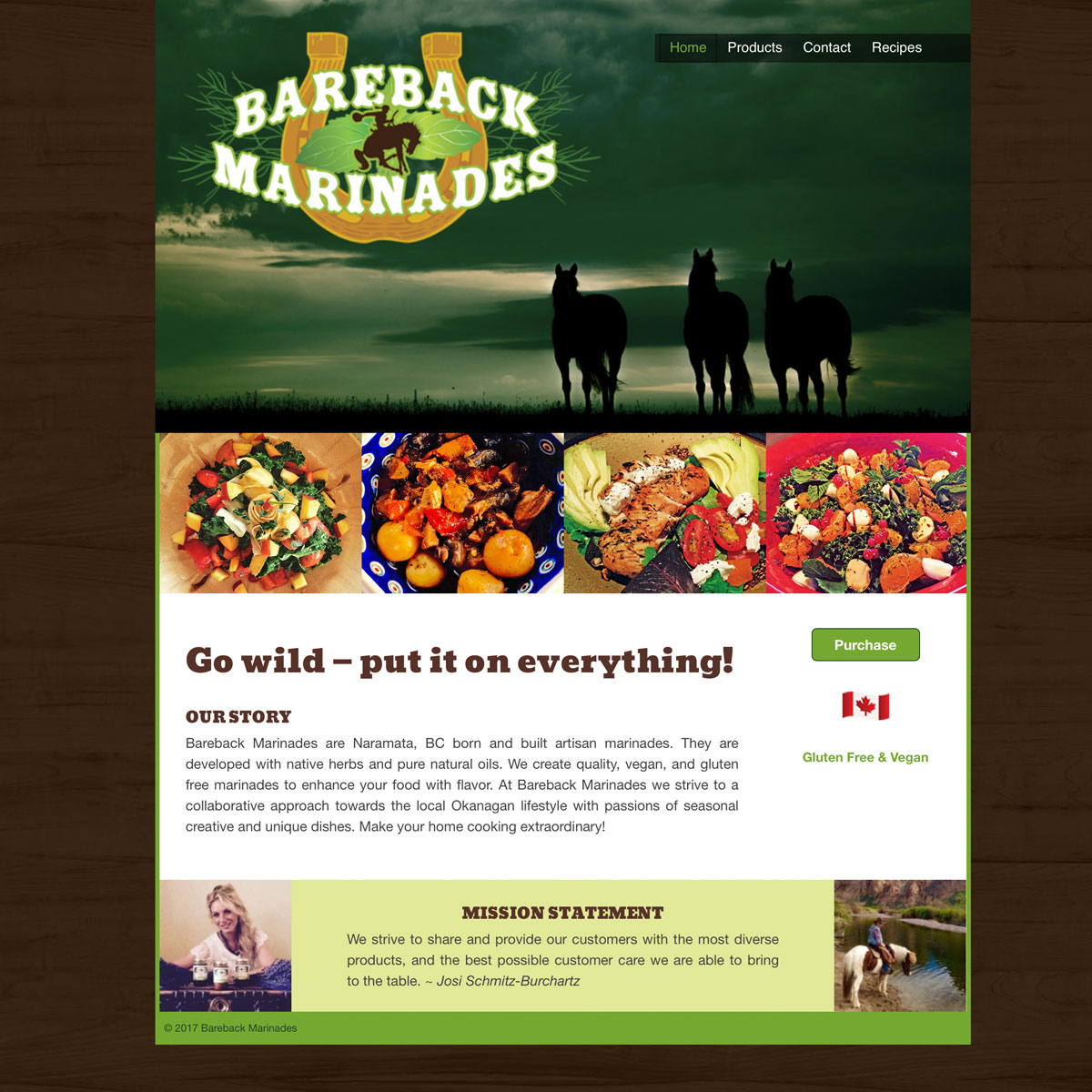 Bareback Marinades website