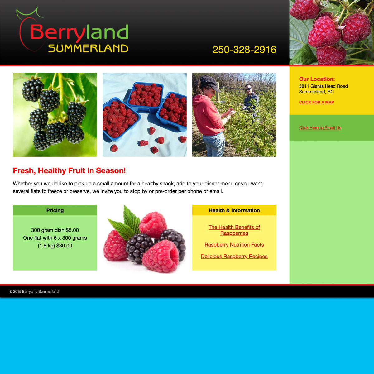 Berryland Summerland website