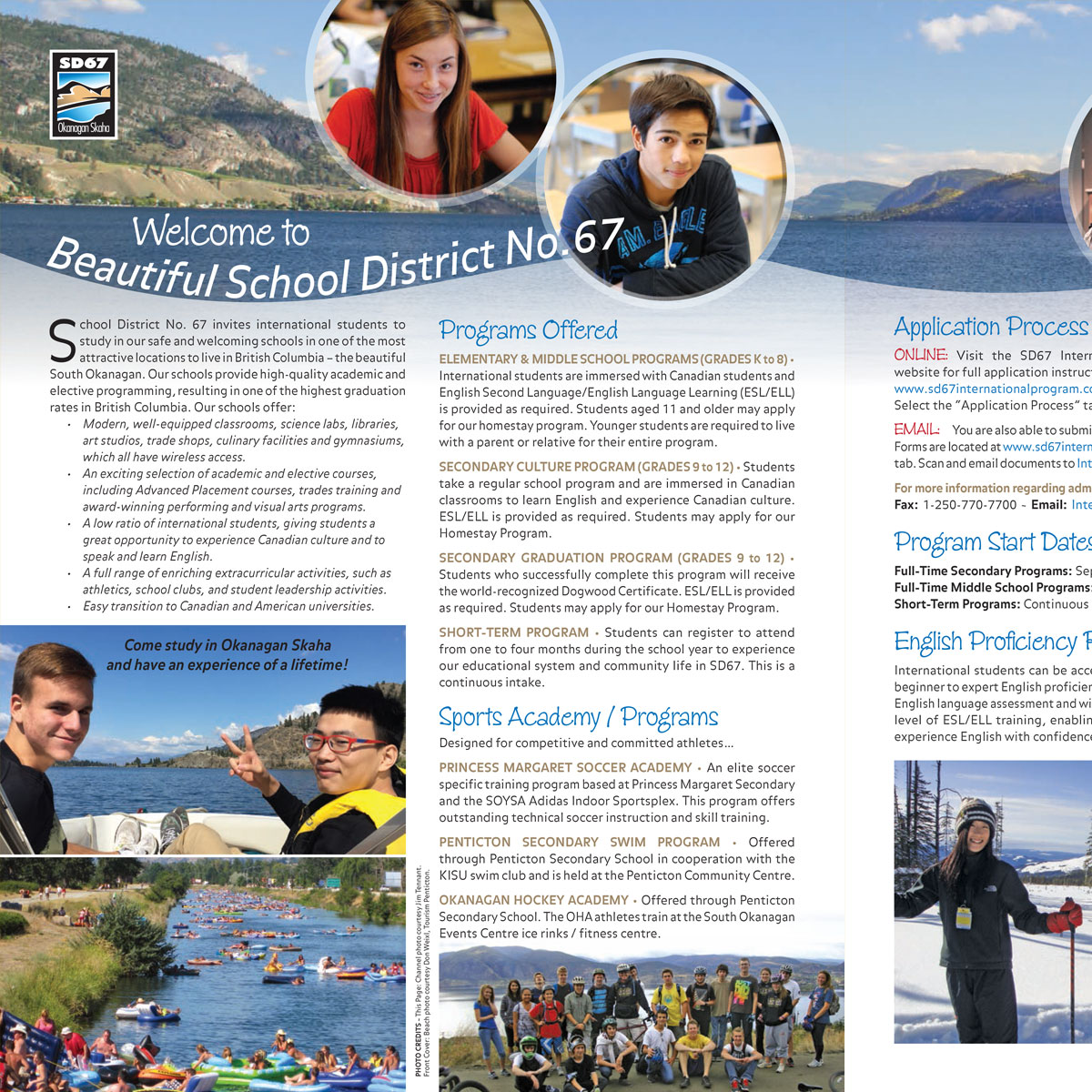 School District 67 International Students brochure 1