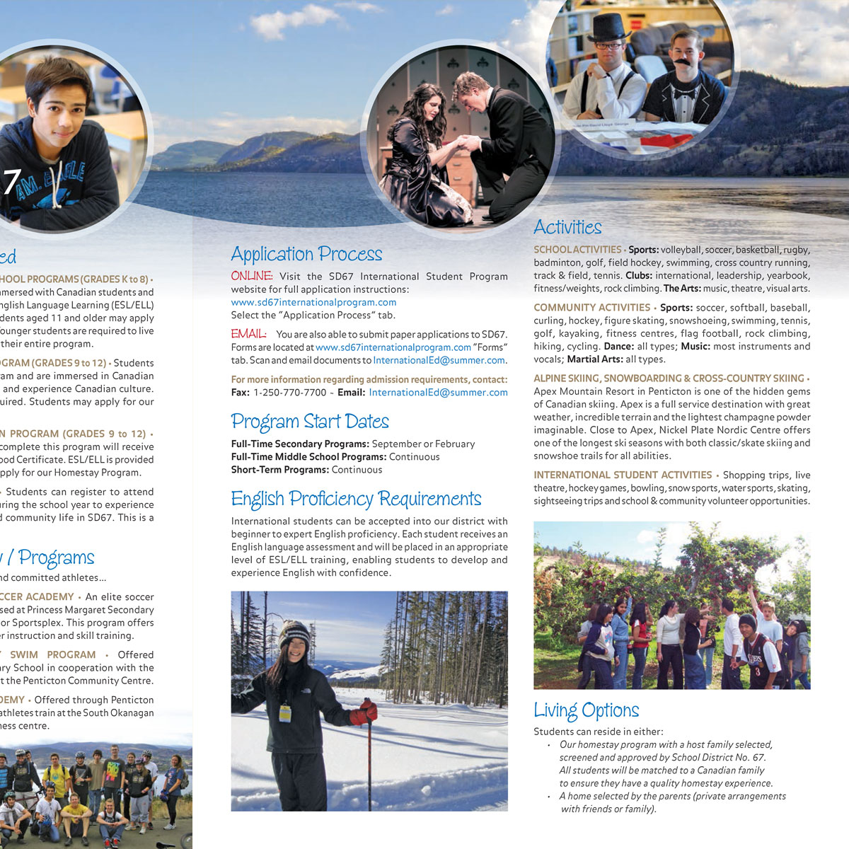 School District 67 International Students brochure 2