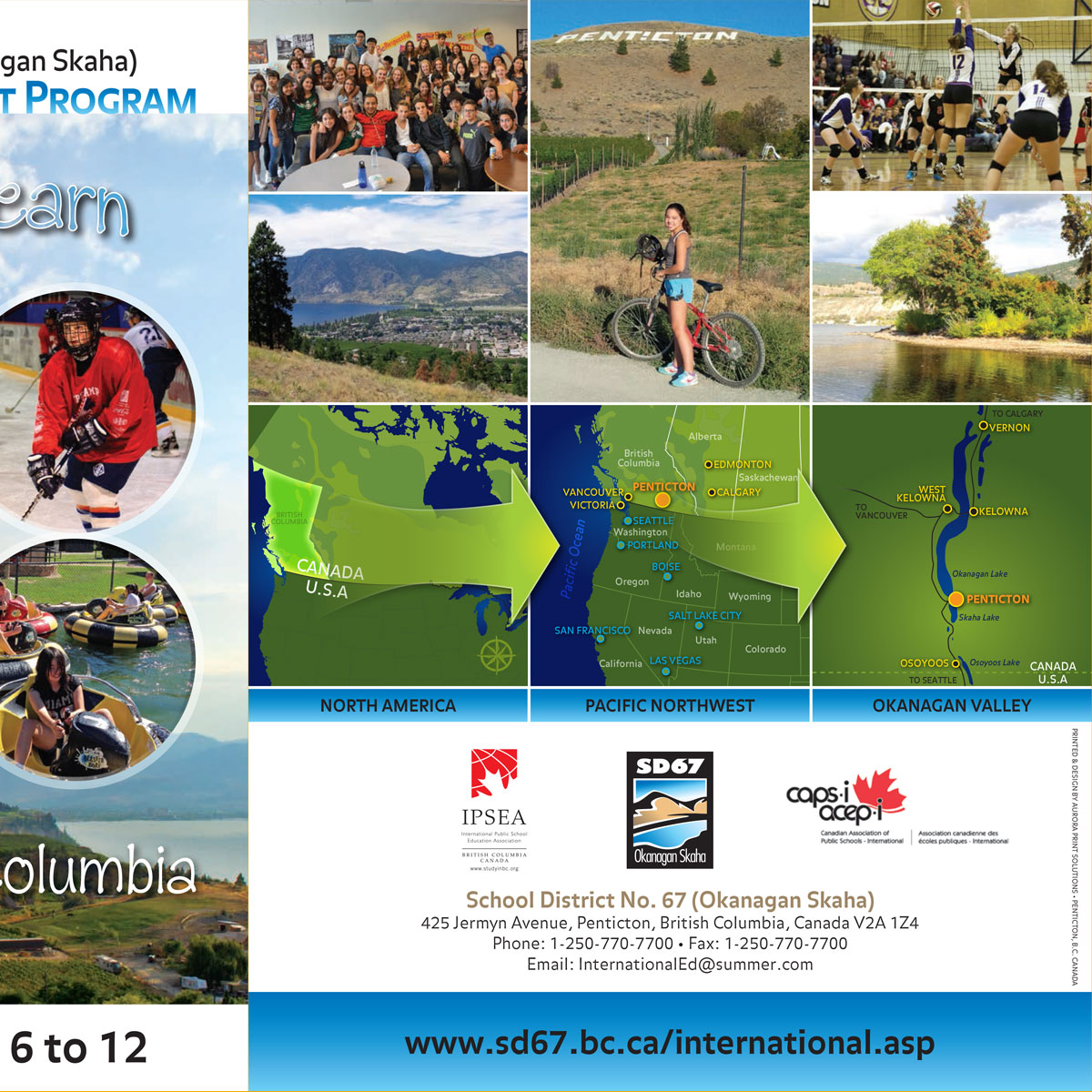 School District 67 International Students brochure 4